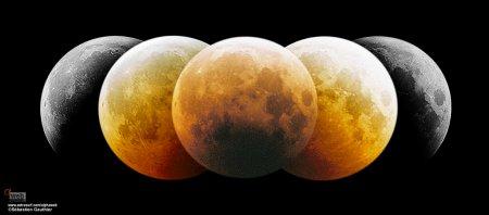 Затмение Луны: монтаж